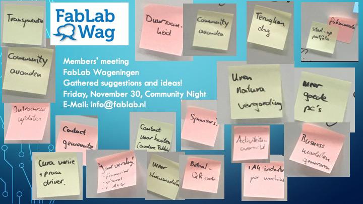 FabLab Wageningen+ Community night +community engagement+creativity+ entrepreneurship+ education